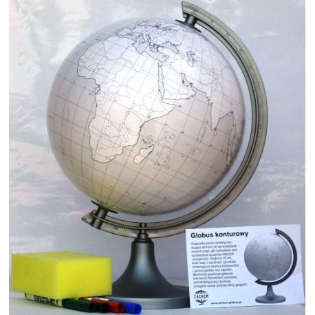 Globus 250 Konturowy z objaśnieniem