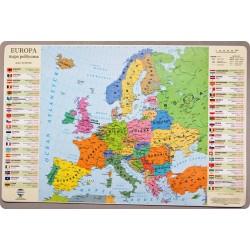 Podkładka mapa polityczna Europy