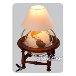 Globus 320 Antyczny kolumnowy stołowy z lampką