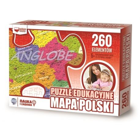 PUZZLE edukacyjne Mapa Polski
