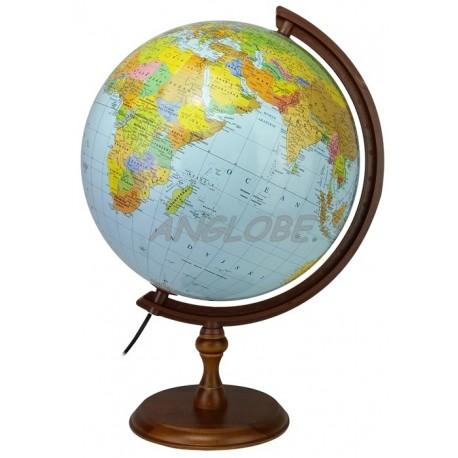 Globus 320 Polityczno - Fizyczny Podświetlany Ciemna stopka