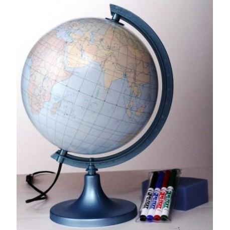 Globus 250 Konturowy z objaśnieniem Podświetlany