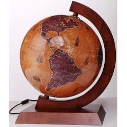 Globus 320 Retro z Żaglowcami Podświetlany