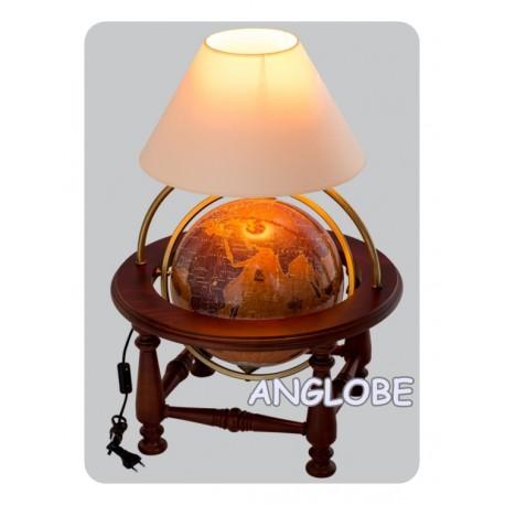 Globus 320 Żaglowce kolumnowy stołowy z lampką