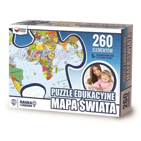 PUZZLE edukacyjne Mapa Świata