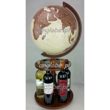 Globus 320 - Obrotowy stojak na wino - Antyczny