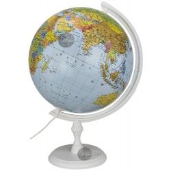Globus 320 Polityczno - Fizyczny Podświetlany, biała stopka