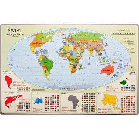 Podkładka mapa polityczna Swiata