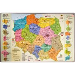 Podkładka mapa administracyjna Polski