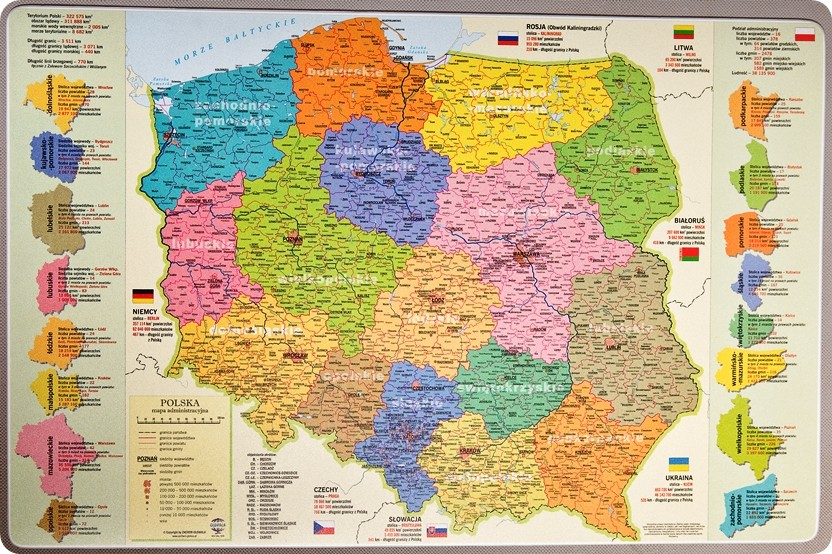 Podkladka Mapa Administracyjna Polski Anglobe